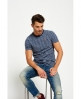Superdry Gestreiftes Rustic T-Shirt mit Tasche Blau
