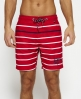 Superdry Vacation Stripe Swim Shorts  Red