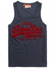 Superdry Vintage Logo Vest Navy