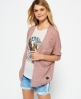 Superdry Nevada Springs Slub Cardigan  Pink