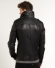 Superdry Brad Hero Leather Jacket Black