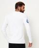 Superdry Langärmeliges Mountaineer T-Shirt mit Einsatz  Weiß
