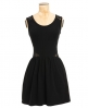 Superdry Lace Cutout Skater Dress Black