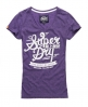 Superdry Crude Curl T-shirt Purple