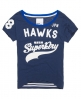 Superdry Burnout Football T-shirt Blue