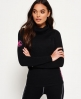 Superdry Merino Cowl Neck Base Layer Top Black