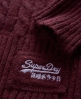 Superdry Croyde Cable Crew Red
