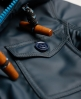 Superdry Pop Zip Boat Coat Blue