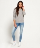 Superdry Downtown Raglan Knitted Jumper  Grey