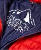 Superdry Fuji Kapuzenjacke mit quadratischem Steppmuster Rot