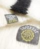 Superdry Madison Varsity Strickpulli  Creme