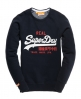Superdry Vintage Logo Crew Navy