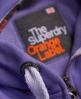 Superdry Orange Label Zip Hoodie Purple