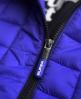 Superdry Cazadora con capucha Box Quilt Fuji Azul