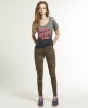 Superdry Skintight Cargo Pants Brown