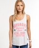 Superdry Trackster Vest Top Light Grey