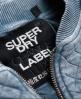 Superdry Cazadora Bomber Beach Micro Jersey Azul