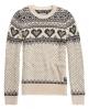 Superdry Fairisle Heart Knit Jumper Light Grey