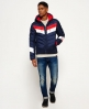 Superdry Scuba Carve Hooded Jacket Navy