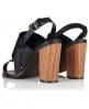 Superdry Blake Wooden Heel Sandals Black