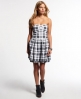 Superdry 50s Prom Plaid Dress White