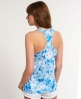 Superdry Happy Floral Vest Top Blue