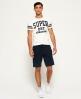 Superdry Orange Label Moody Shorts Navy