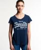 Superdry Vintage Logo Super Sewn T-Shirt Marineblau