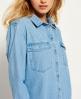 Superdry Oversized Denim Shirt Blue
