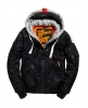 Superdry Cazadora Real Rookie Flight Bomber Negro