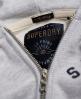 Superdry Sweat à capuche zippé Appliqué Gris
