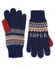 Superdry Fairisle Glove Blue
