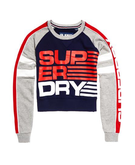Shortie Sports sweatshirt met ronde hals