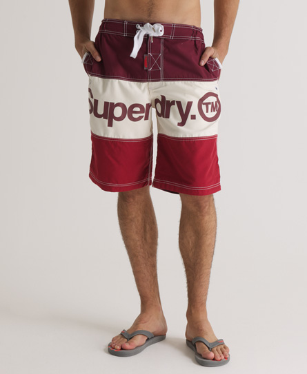 Superdry Tri Panel Boardshorts Red