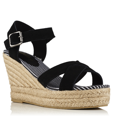 superdry sandales espadrilles semelle compens e isabella chaussures pour femme. Black Bedroom Furniture Sets. Home Design Ideas