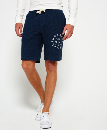 abyss blue grit Superdry Surplus Goods Sweat Shorts