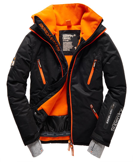 mens glacier jacket in black run superdry. Black Bedroom Furniture Sets. Home Design Ideas