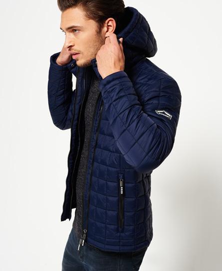 sport code navy Superdry Hooded Box Quilt Fuji Jacket