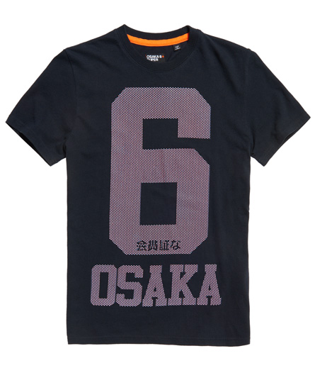 dunkel marineblau Superdry Osaka 6 Micro Dot T-Shirt