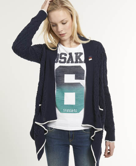 Superdry Shipping Cardigan Navy