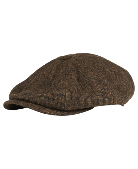 brown twill Superdry Blinder Cap