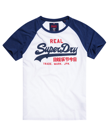 Superdry vintage logo raglan t shirt men 39 s t shirts for Old logo t shirts
