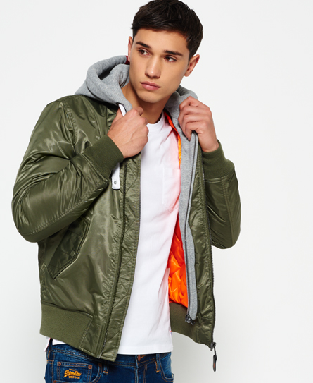 green Superdry Real Rookie Flight Bomber Jacket