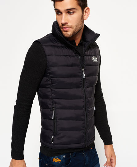 black Superdry Fuji Gilet