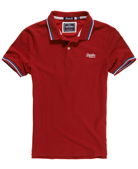 Superdry Tri Tipped Pique Polo Red