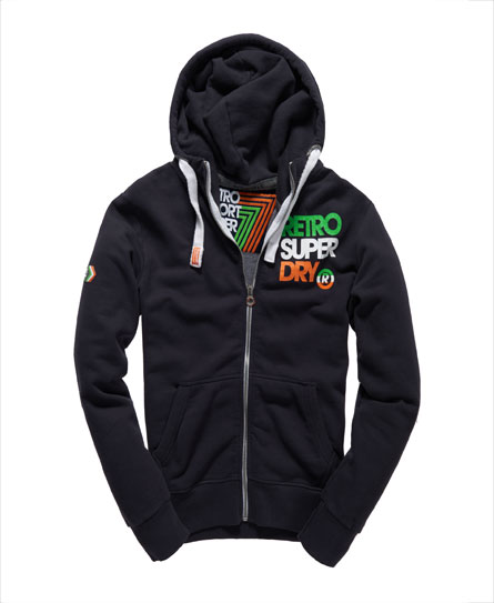 superdry retro kapuzenjacke herren hoodies. Black Bedroom Furniture Sets. Home Design Ideas