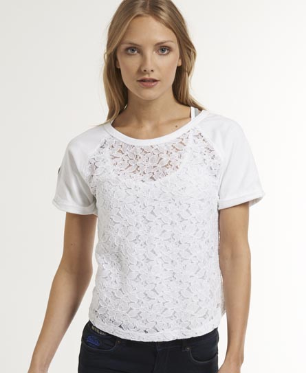 Superdry Hyper Lace T-shirt White