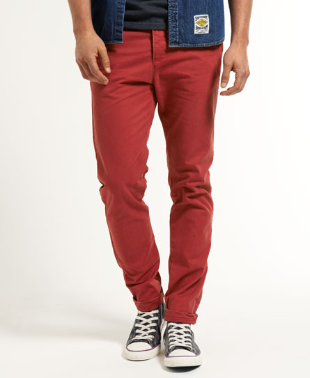 Superdry Commodity Slim Chinos Red