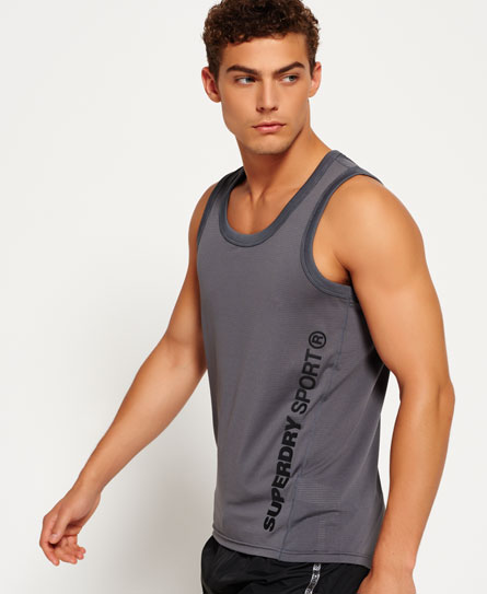 carbon grey Superdry Canotta Sports Active Relaxed