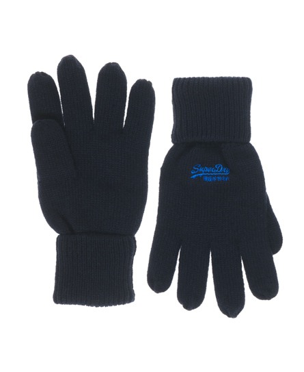 Superdry Orange Label Gloves Blue